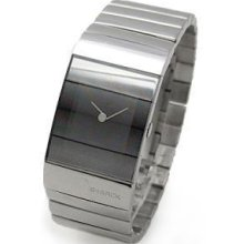 Philippe Starck Ladies Veiled Polished Stainless Steel Mirror Watch Ph5017