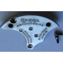 Pocket Watch Omega 40.6 L Movement 15 Jewels Part: Train Wheel Bridge