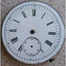 Repeater Vintage Pocket Watch Movement & Dial 49 Mm. To Restore Or Parts