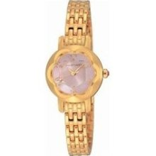 Ring Ladies Watch with Gold Metal Band ...