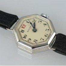 Rolex 18ct White Gold Art Deco Ladies Rare Vintage Watch Ca 1930 Excellent Con.