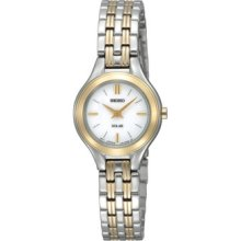 Seiko Solar Women's Stainless Steel Case Watch Sup004