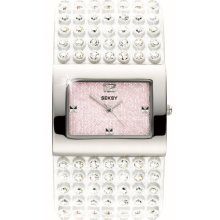 Seksy Model 4754.37 Ladies Analogue Made With Swarovski Crystal Leather Strap Watch