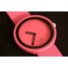 Stylish Designer Ladies' Pink Quartz Wristwatch