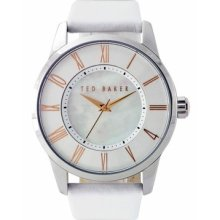 Ted Baker Women's Straps Right On Time Watch In White Te2043