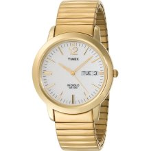 Timex Men's T21942 Dress Gold-Tone Stainless Steel Expansion BAND WATCH