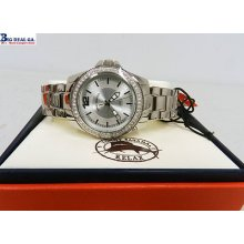 Tommy Bahama Rlx4006 Women Round Crystal Stainless Steel Watch In Box