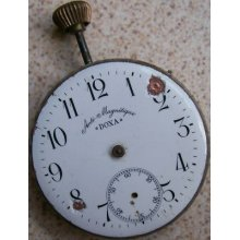 Vintage Big Pocket Watch Movement & Dial Doxa 54 Mm. To Restore Or Parts