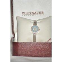 Vintage Ladies Wittnauer 17 Jewel Watchwhite G/f Bandcirca 1970's