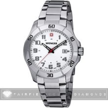 Wenger Alpine White Dial Stainless Steel Watch 70489