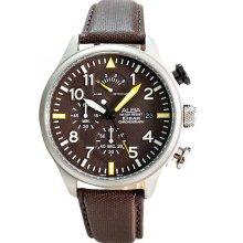 ALBA Mens Brown Leather strap Chronograph Quartz Watch AS6089X1