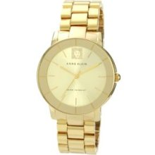 Anne Klein Gold Sunray Ladies Goldtone Bracelet Watch