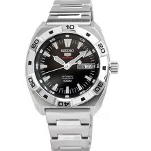 Authentic Seiko 5 Automatic Mens Dress Black Dial Watch Srp281k1