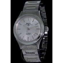 Ball Fireman Victory Steel 40mm Watch - Silver Dial, Stainless Steel Bracelet NM2098C-S3J-SL Sale Authentic Tritium