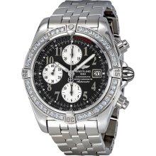 Breitling Chronomat Evolution Anthracite Dial Diamond Bezel Mens Watch A1335653-B722SS