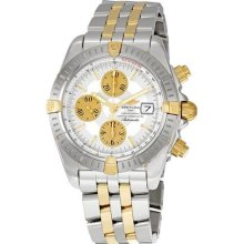 Breitling Chronomat Evolution Silver Dial Chronograph Mens Watch ...