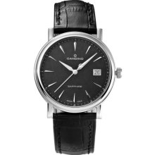 Candino Men's Quartz Watch With Black Dial Analogue Display And Black Leather Strap C4487/3