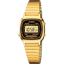 Casio Ladies Gold Tone Digital Watch Vintage Classic Retro La670wga-1d La670wg