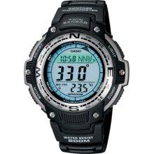 Casio Mens Digital Compass Twin Sensor Sport Watch - Black Black