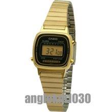Casio Vintage Retro Classic Gold Plated Ladies Digital Watch La670wga-1d