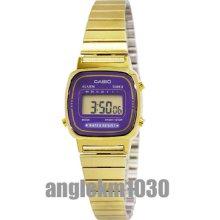 Casio Vintage Retro La670wga-6d Classic Gold Plated Ladies Digital Watch