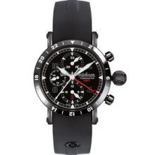 Chronoswiss Timemaster Chronograph GMT DLC Watch 7535GBK