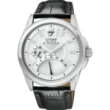 Citizen BR0120-07A Watch Straps Mens - White Dial Stainless Steel Case Solar Quartz Movement