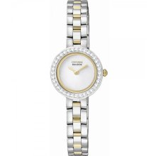 Citizen Silhouette Eco-Drive White Dial Two-Tone Stainless Steel Ladies Watch EX1084-55A