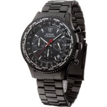 Detomaso Firenze Chronograph Ipb Men's Quartz Watch With Black Dial Analogue Display And Black Stainless Steel Bracelet Sm1624c-Bk