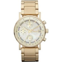 DKNY Watch, Womens Chronograph Gold-Tone Stainless Steel Bracelet NY43