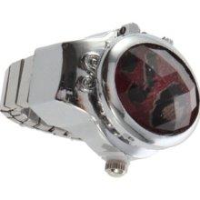 Fashion Ladies Rhinestone Crystal Leopard Finger Ring Quartz Watch