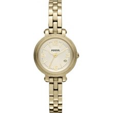 Fossil Heather Mini Three Hand Stainless Steel Watch Gold-Tone - ES3194