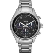 Fossil Womens Flight Plated Chronograph Stainless Steel Watch Ch2799