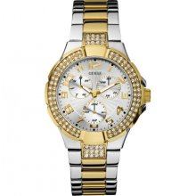 Guess Prism Two Tone Stainless Steel Bracelet U14007L1