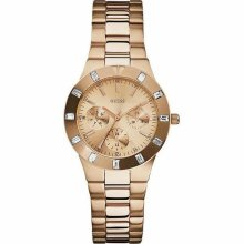 Guess U13013l1 Watch Feminine Ladies Rose Gold Dial 13013 Quartz Crystals
