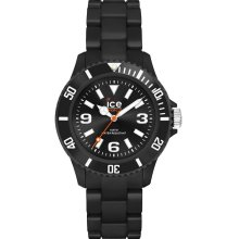 Ice-Watch Mens Ice-Solid Analog Plastic Watch - Black Bracelet - Black Dial - SD.BK.B.P.12