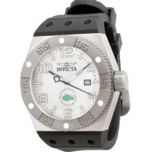 Invicta 0871 Mens Silver Dial Black Band Force Watch