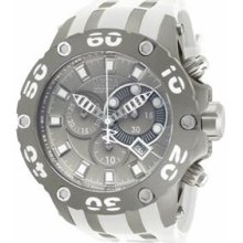 Invicta 12086 Men's Watch Reserve Subaqua Chronograph Gray Dial Rubber Strap