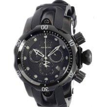 Invicta Ladies Stainless Steel Reserve Venom Quartz Chronograph Diver Black Dial Rubber Strap 0949