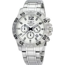 Invicta Mens Specialty Chronograph Silver Dial Stainless Steel Bracelet Watch