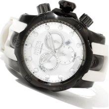Invicta Reserve Men's Venom Swiss Made Quartz Chronograph Polyurethane Strap Watch BLACK