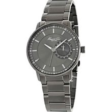 Kenneth Cole Mens New York Date Subdial Stainless Watch - Gunmetal Bracelet - Gray Dial - KC9030