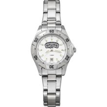 LogoArt NBA All-Pro Women's Watch Team: San Antonio Spurs, Color: Chrome