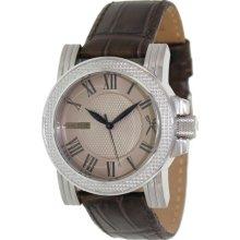 Marc Ecko Men's M13503G4 Brown Leather Quartz Watch with Beige Dial