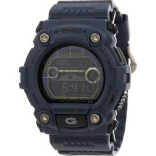 Men's G-Shock Plastic Resin Case and Bracelet Navy Blue Digital Dial