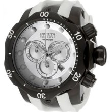 Mens Invicta 11975 Venom Reserve Swiss Made Chronograph Silver Dial Watch
