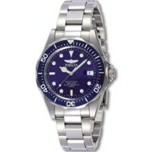 Mens Invicta Pro Diver Quartz Blue Dial Watch