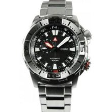 Men's Superior Stainless Steel Case and Bracelet Black Dial Automatic
