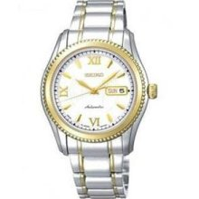 Men's Two Tone Stainless Steel Superior Automatic White