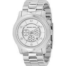 Michael Kors Runway Silver-Dial Chronograph Watch - Silver